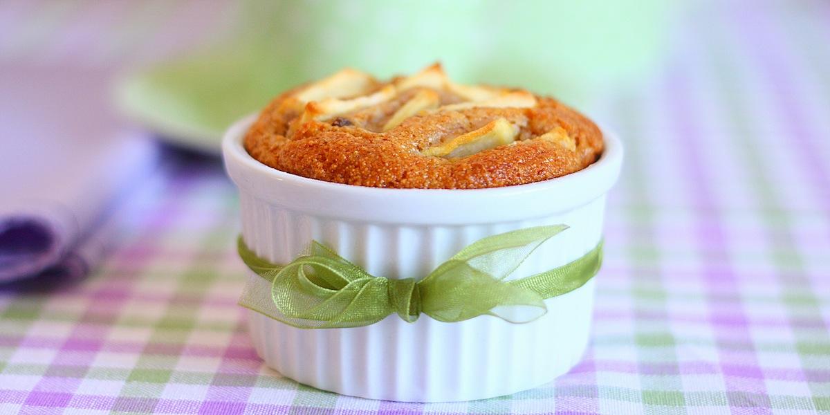 Tortine integrali di mele – senza burro –