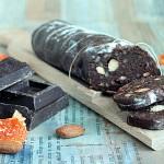 Salame al cioccolato senza uova e senza burro
