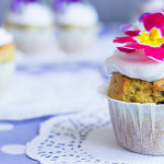 Muffin ai Mirtilli con Frosting al Cocco