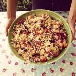#iomangiosano | Insalata di riso frutta e verdura