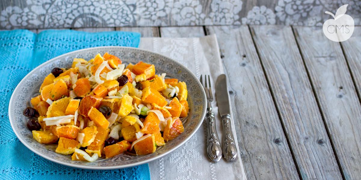 Insalata di arance, finocchi e olive