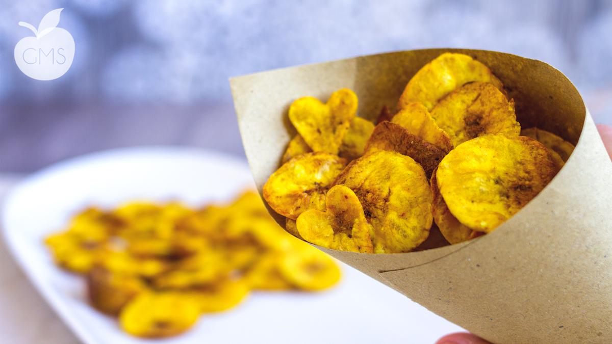 Chips di platano cotte al forno croccanti