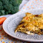 Lasagne vegan con pane carasau | Funghi & Broccoli