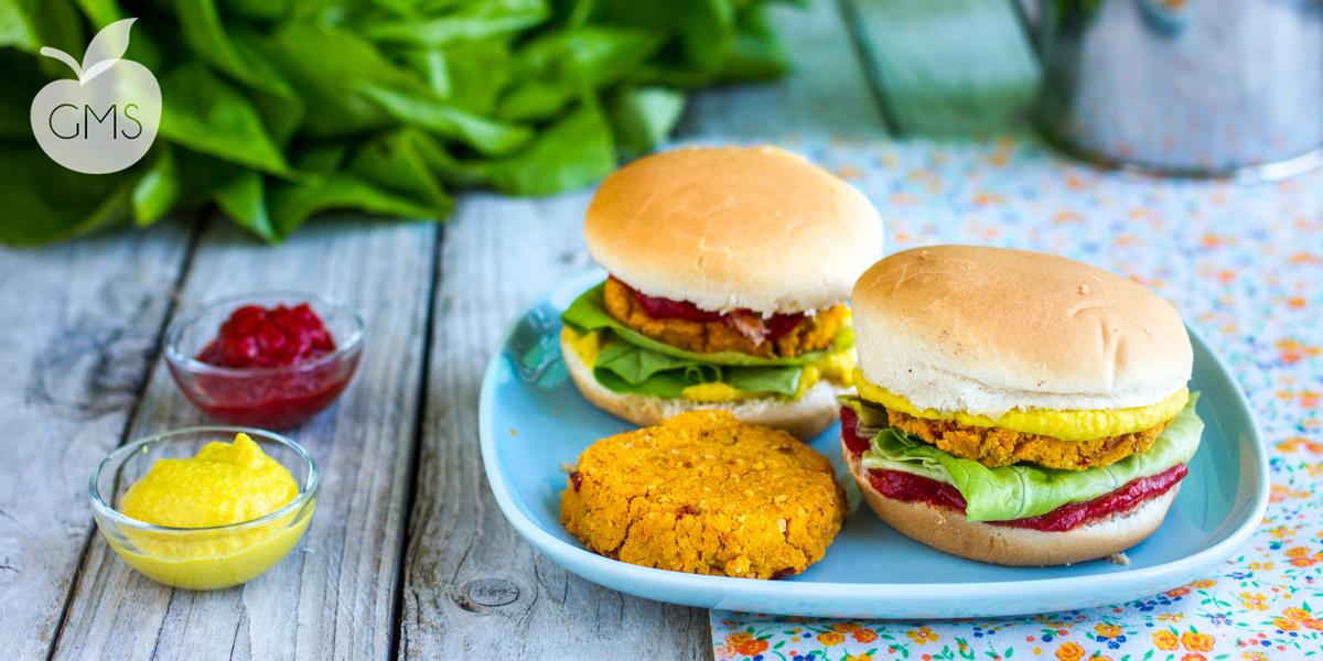 Burger di patate dolci e ceci | Ricetta Vegan