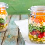 Salad in a jar | Insalata in barattolo