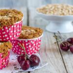 Muffin all'avena e ciliegie | Ricetta vegan