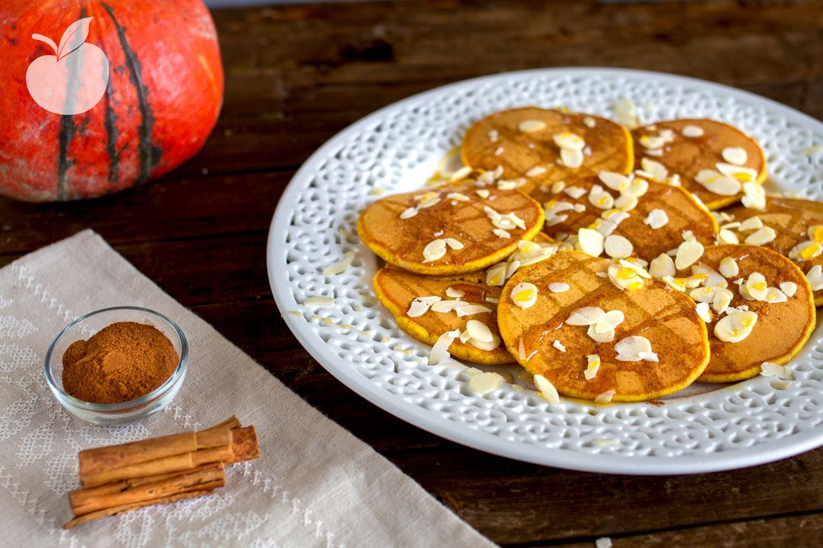 Pancake alla zucca | Ricetta vegan