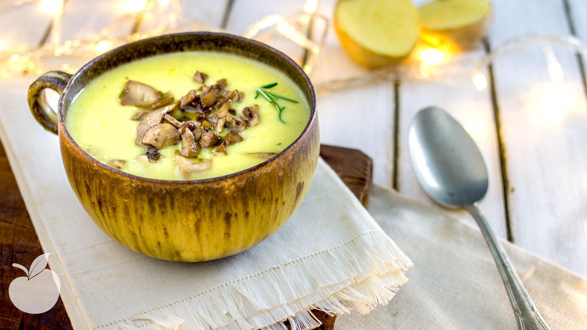 Zuppa di patate vegan | Ricetta veloce