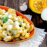 Gnocchi di zucca e patate con crema alle pere