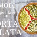 TORTA SALATA DI ZUCCHINE e RICOTTA