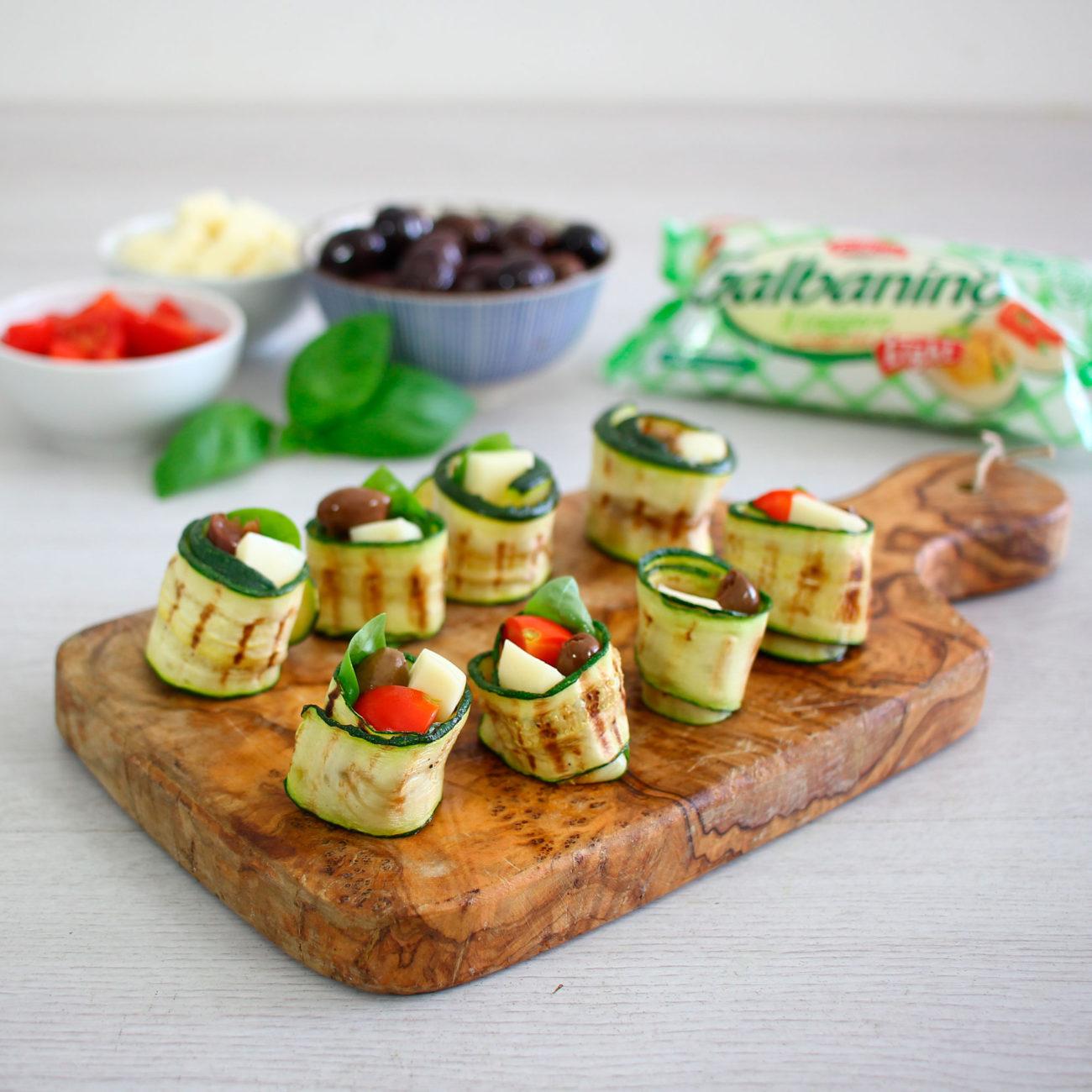 Involtini di zucchine e galbanino light