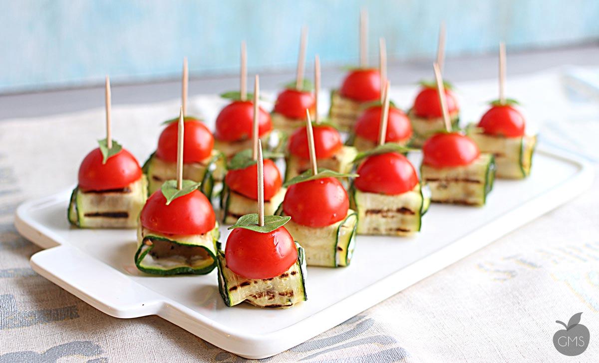 Finger Food Aperitivo Estivo involtini di seitan e zucchine - il goloso mangiar sano