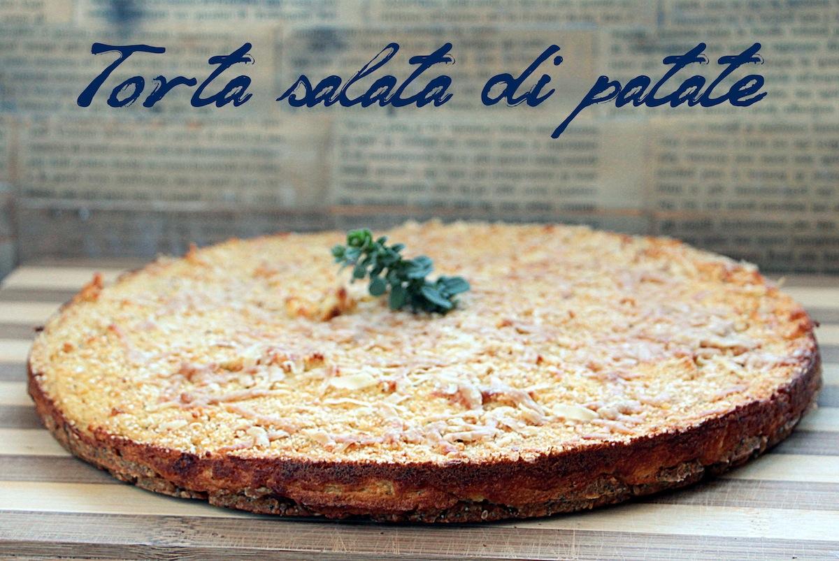 Torta salata di patate con base croccante ai semini
