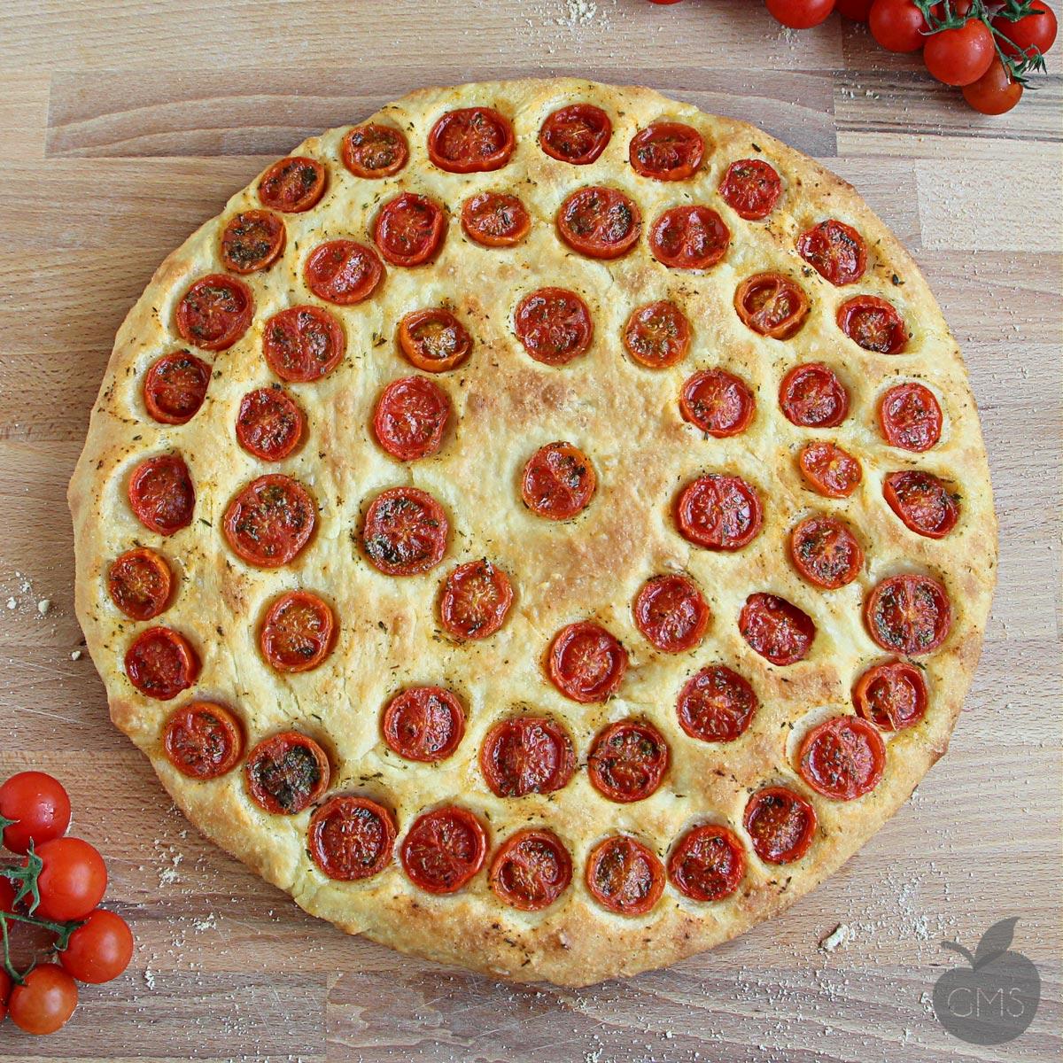 Focaccia pugliese, base per pizza