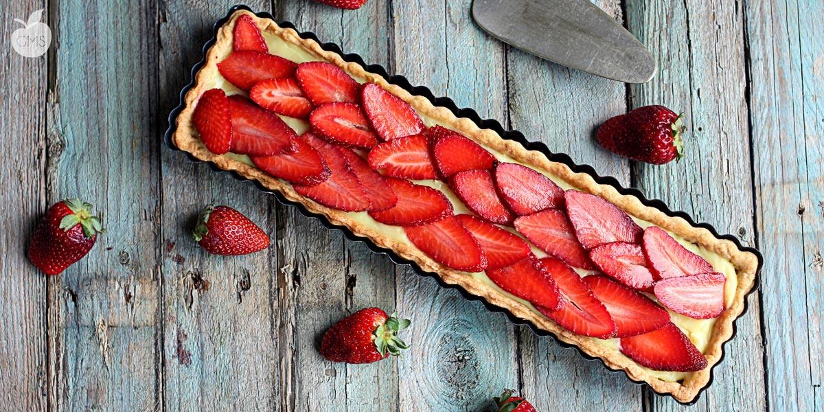 Crostata alle fragole e Lemon curd | Ricetta Vegan