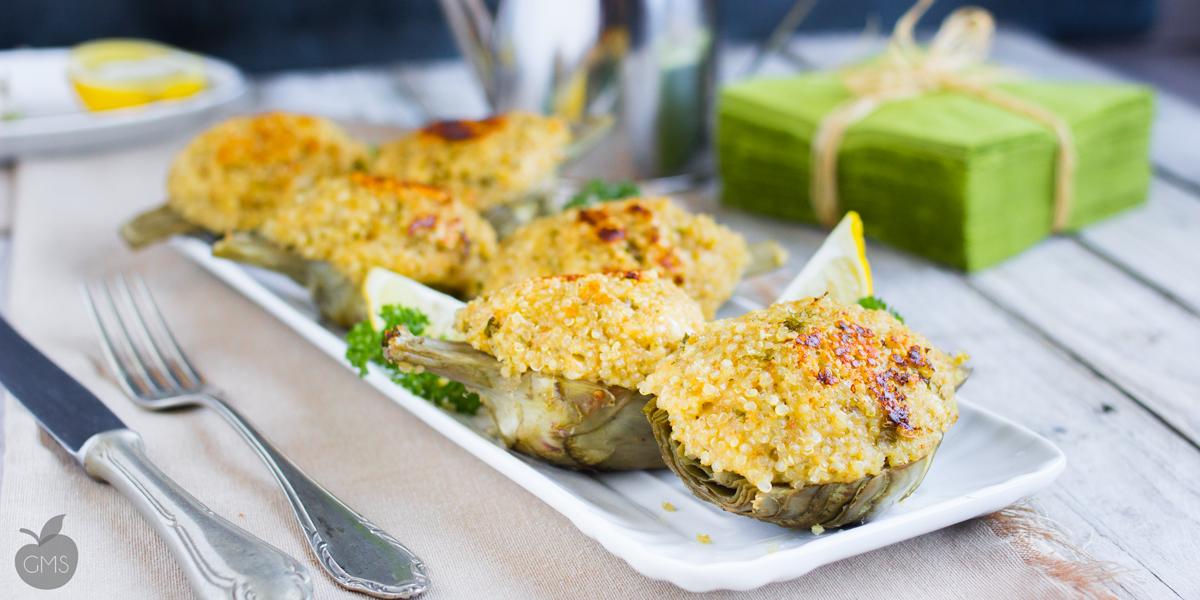 Carciofi ripieni vegetariani con Quinoa o Miglio