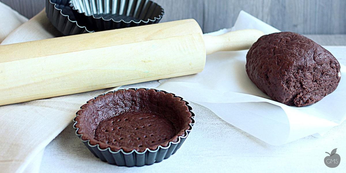 Pasta frolla al cacao senza burro né uova