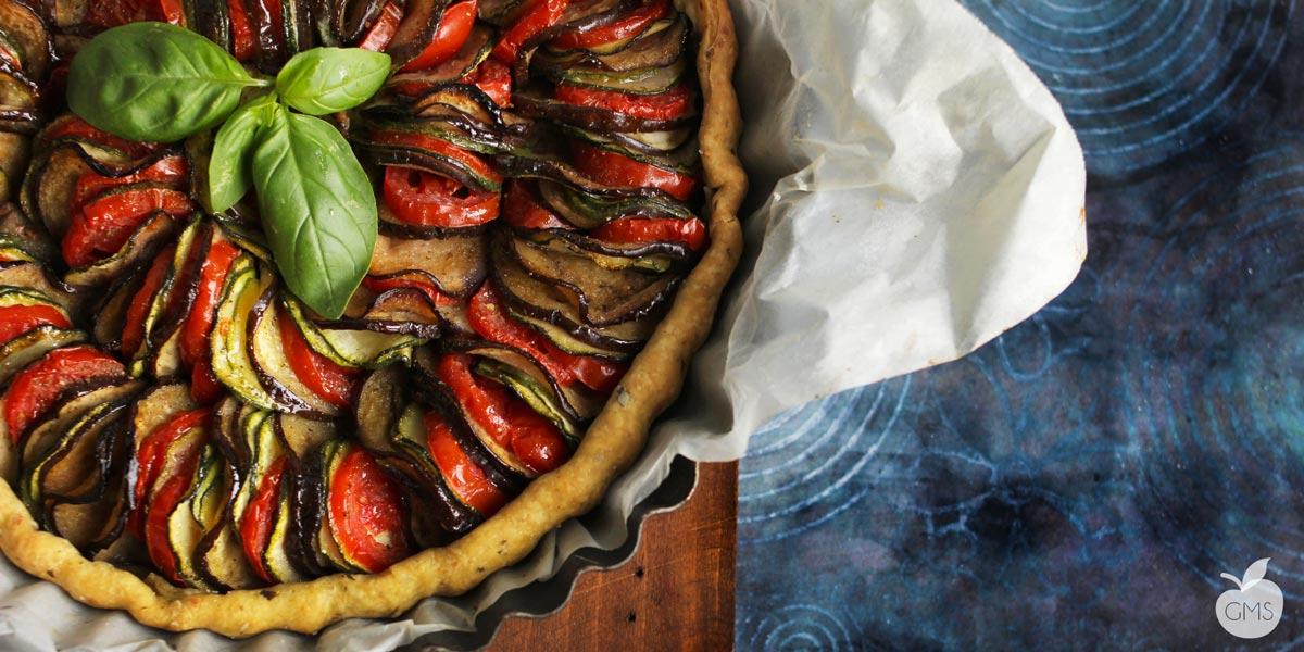 Crostata Ratatouille | Ricetta vegan