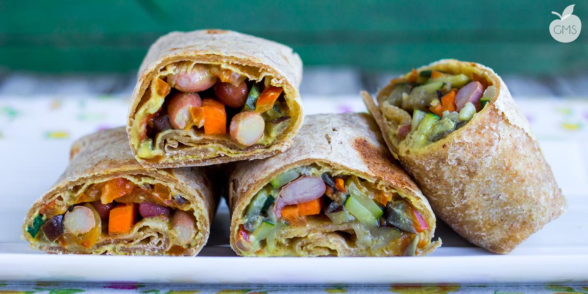 Burrito al farro e verdure