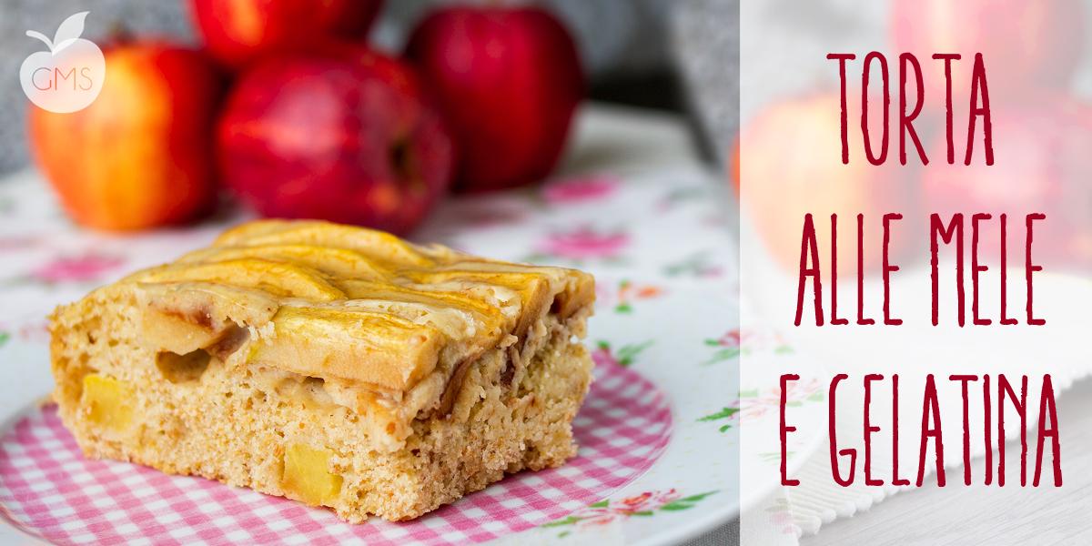 Torta di mele integrale con gelatina