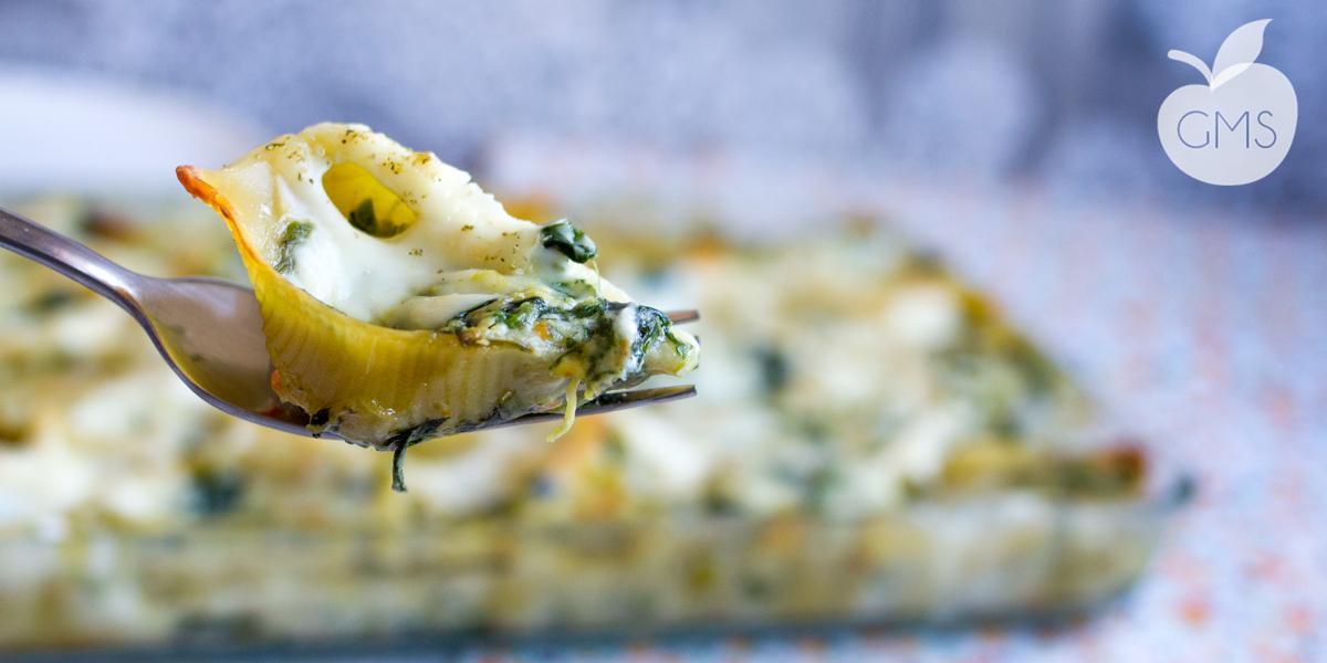 Conchiglioni agli spinaci | Pasta al forno