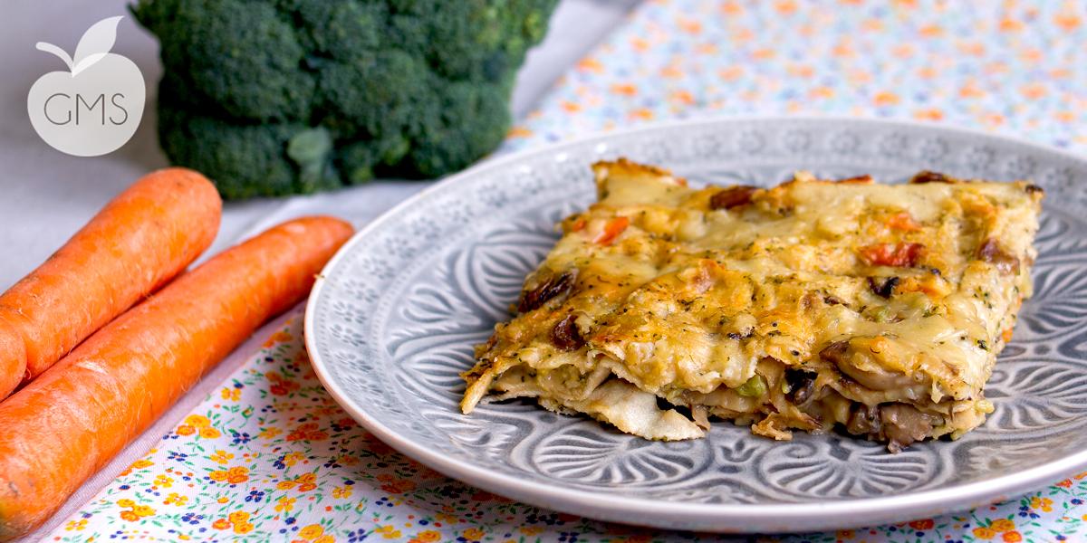 Lasagne con pane carasau | Funghi & Broccoli