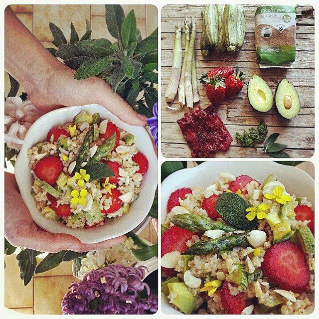 Bulgur con frutta e verdura