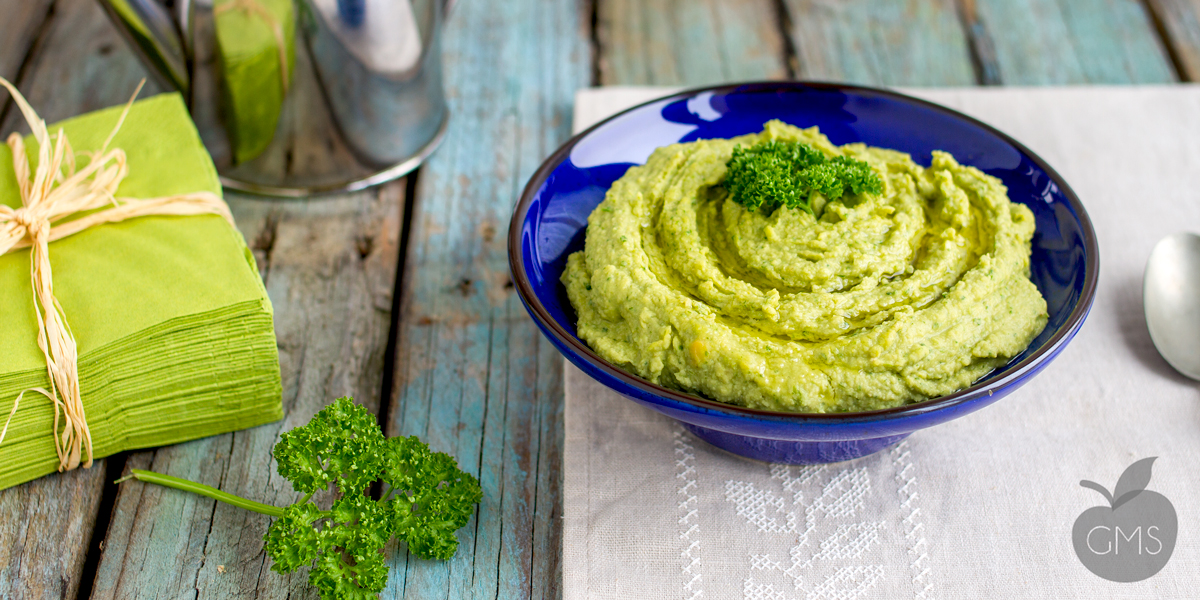 Hummus verde al prezzemolo e aneto