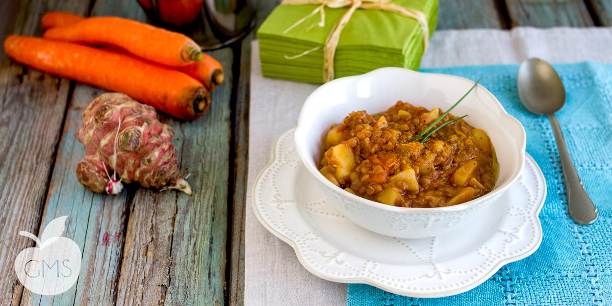 Zuppa di lenticchie al curry | Ricetta Vegan