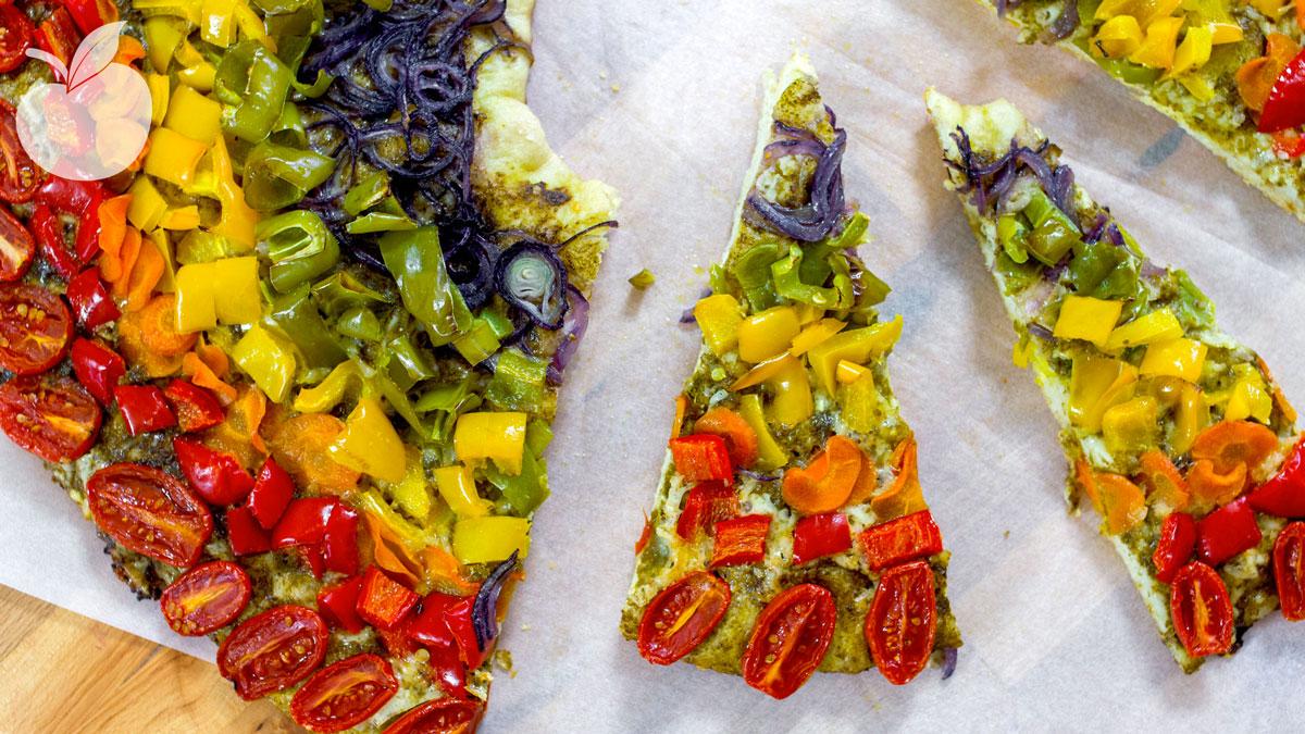 Pizza Rainbow – Ricetta Facile