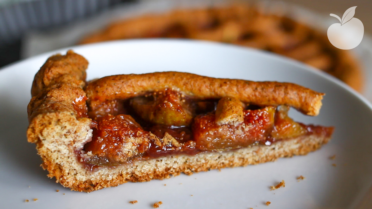 Crostata fichi e marmellata | Ricetta vegan