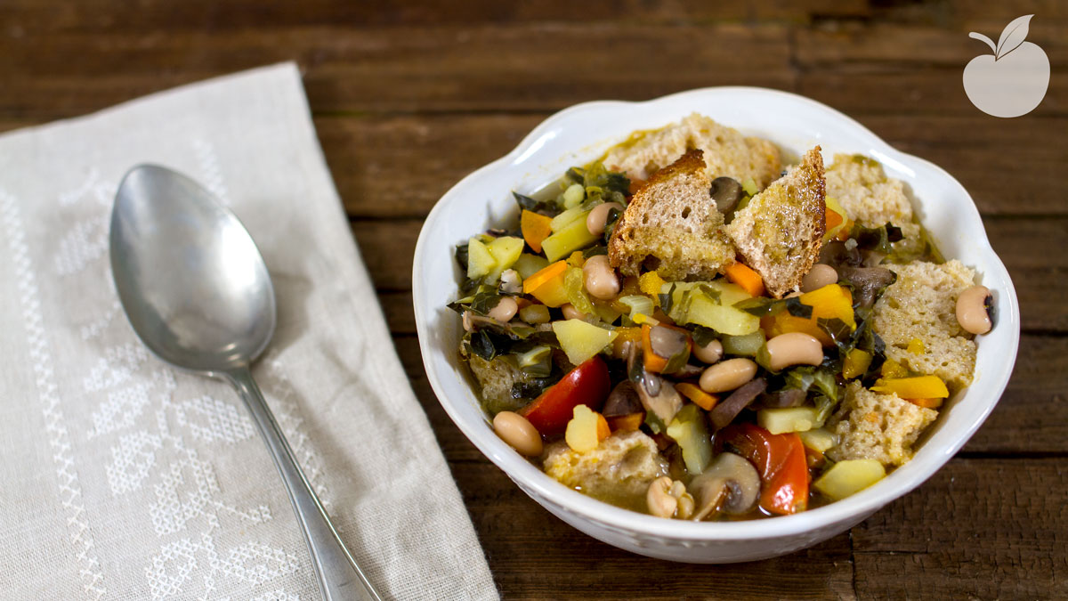 Ribollita di legumi | Ricetta facilissima