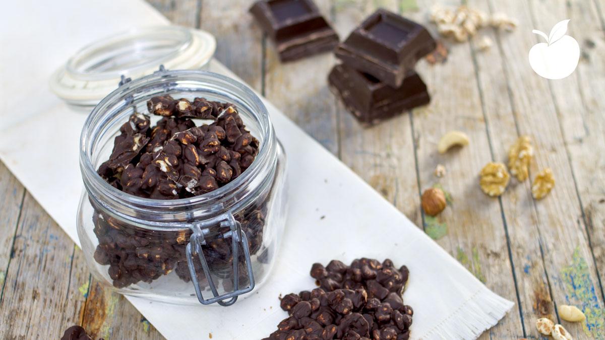 Barrette fatte in casa ai cereali e cioccolato