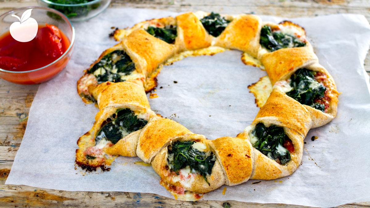 Corona di pizza | Ricetta Vegan