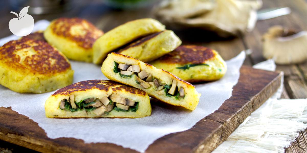 Tortini di patate ripieni | Ricetta vegan