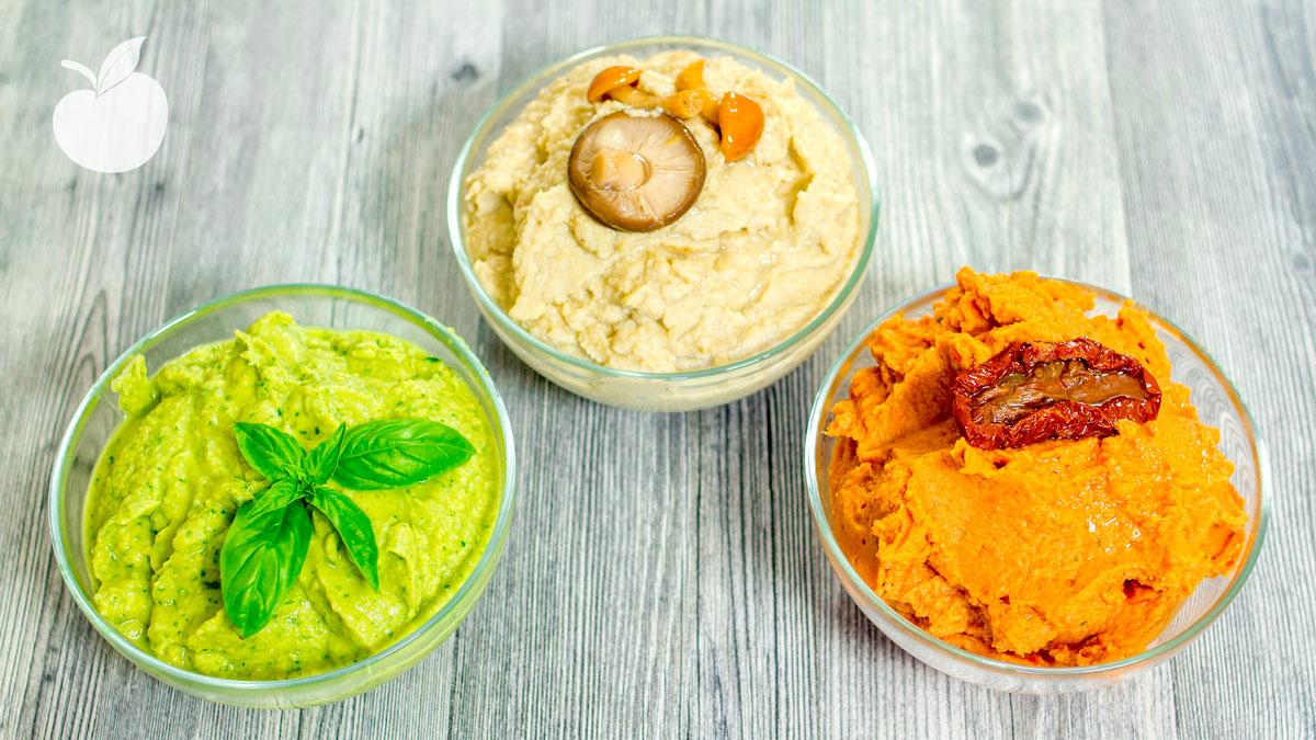 Hummus ai funghi e carciofini