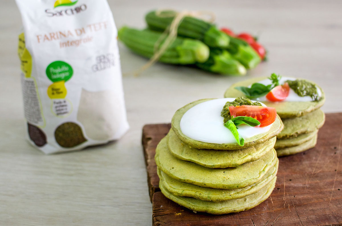 Pancake salati al basilico