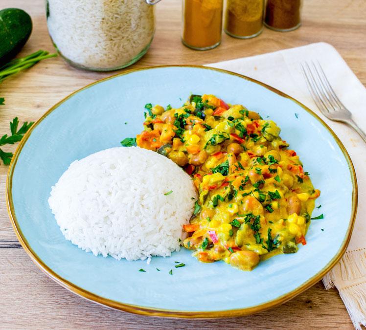 Curry di verdure estive