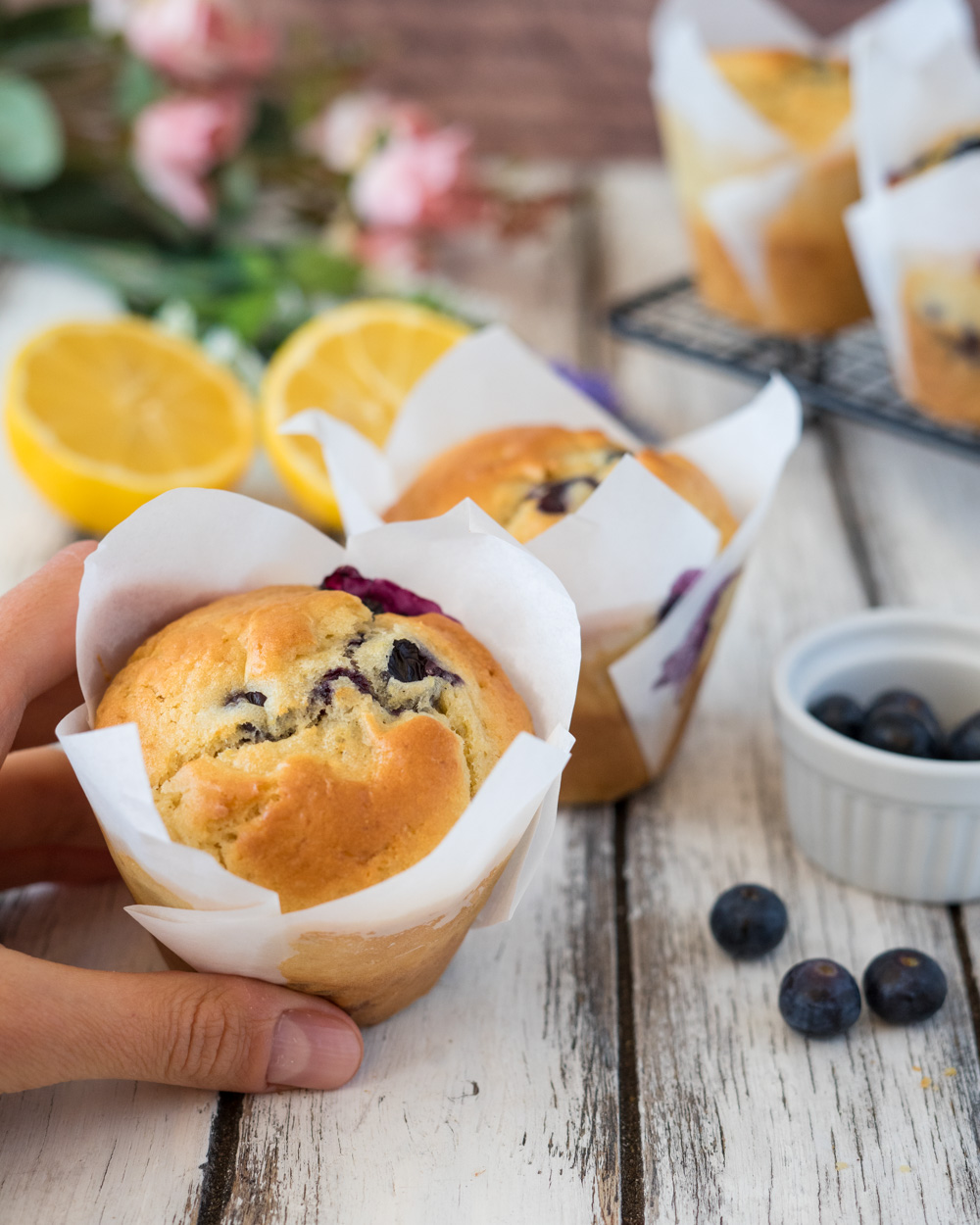 Blueberry muffin al limone e yogurt